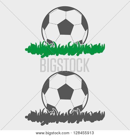 Soccer Ball On Grass Vector Design Element