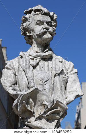 Statue of Johann Strauss in Paris, France