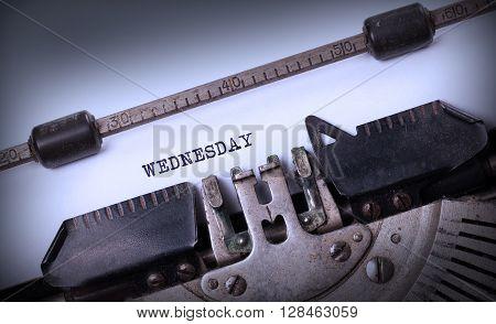 Wednesday Typography On A Vintage Typewriter
