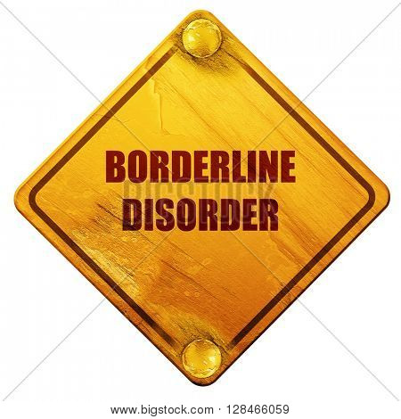 Borderline sign background, 3D rendering, isolated grunge yellow