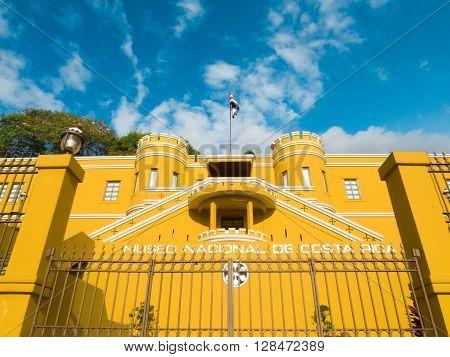 SAN JOSE, COSTA RICA - March 21: National Museum of Costa Rica, located in Bellavista Fortress originally used as military barracks. March 21, 2016 in San Jose.