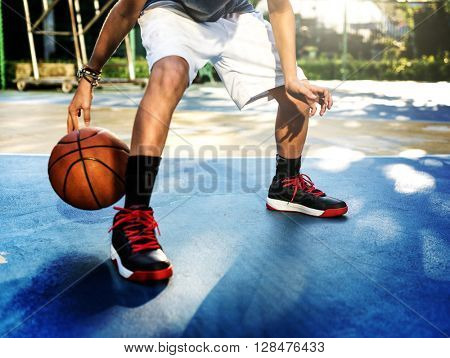 Basketball Player Sport Gaming Tactics Concept