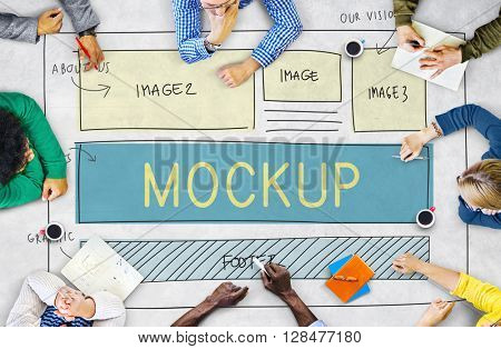 Mockup Object Imitate Model Replica Design Reproduce Concept