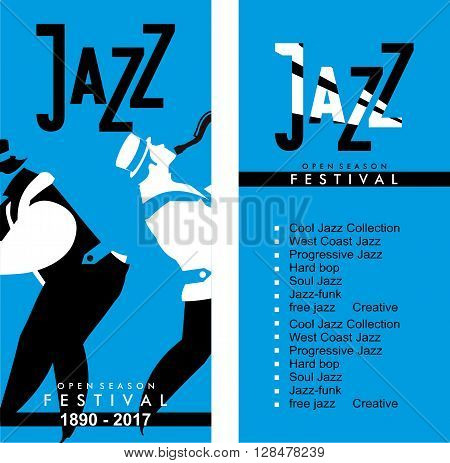 vector bilateral evroflaer size 100mm to 210mm theme of jazz and its direction