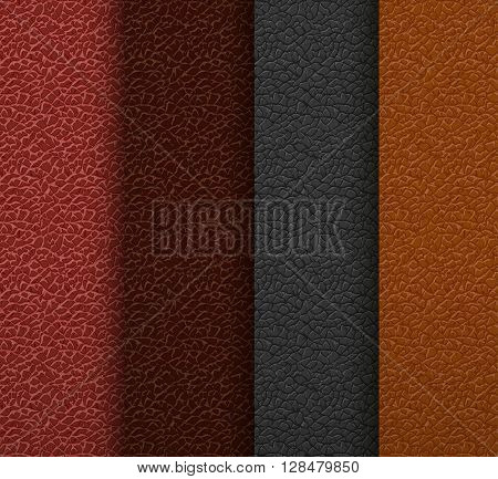 Set of different colored skin textures. Stock vector illustration.