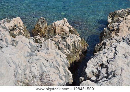 Coastal Rock Landscape In Croatia