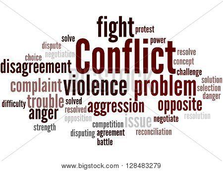Conflict, Word Cloud Concept 7