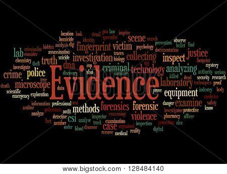 Evidence, Word Cloud Concept 6