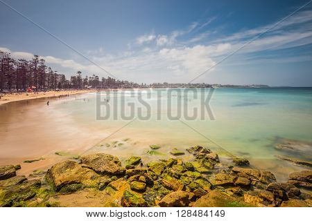 A seascape abstract with a long exposure. Manly Beach Sydney Australia.