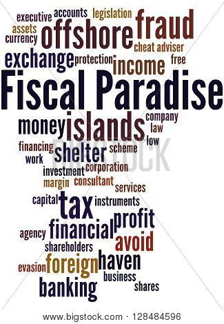 Fiscal Paradise, Word Cloud Concept