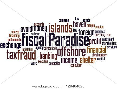 Fiscal Paradise, Word Cloud Concept 3