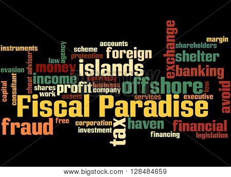 Fiscal Paradise, Word Cloud Concept 9