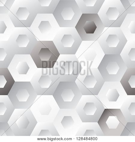 Seamless tiled hexagon background with repeating design