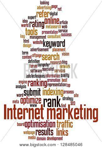 Internet Marketing, Word Cloud Concept 6