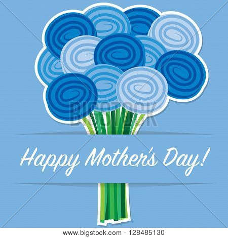 Rose Mother's Day Card In Vector Format.