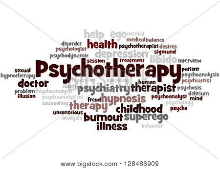 Psychotherapy, Word Cloud Concept 3