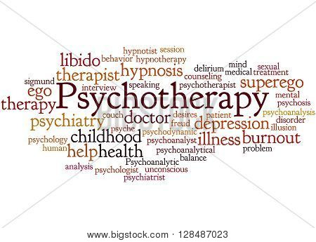 Psychotherapy, Word Cloud Concept 9