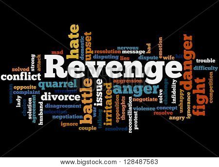 Revenge, Word Cloud Concept 8