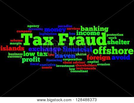 Tax Fraud, Word Cloud Concept 5