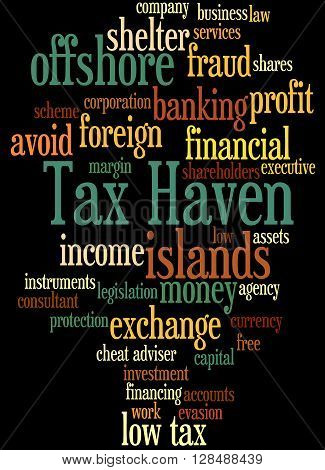 Tax Haven, Word Cloud Concept 10