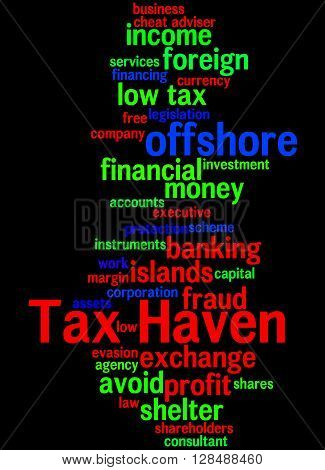 Tax Haven, Word Cloud Concept 5
