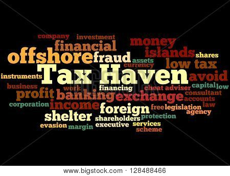 Tax Haven, Word Cloud Concept 6