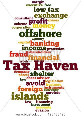 Tax Haven, Word Cloud Concept 9