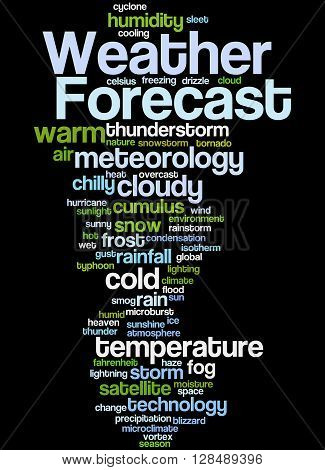 Weather Forecast, Word Cloud Concept 8