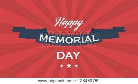 Memorial day vector background. Memorial day vector poster.