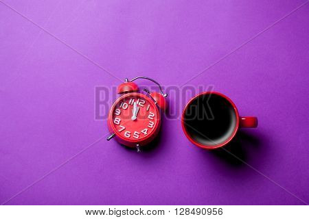 Cup Of Coffee And Clock