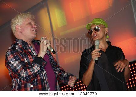 Russian pop star, singer Boris Moiseyev and Laima Vaikule