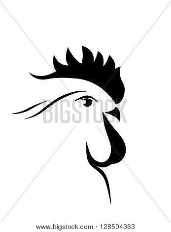 abstract big black  cock 2017. new year. vector. isolated