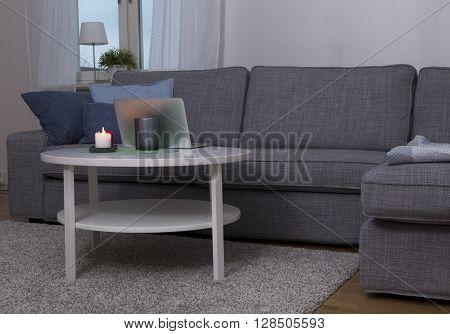 Carpet, Table And A Sofa