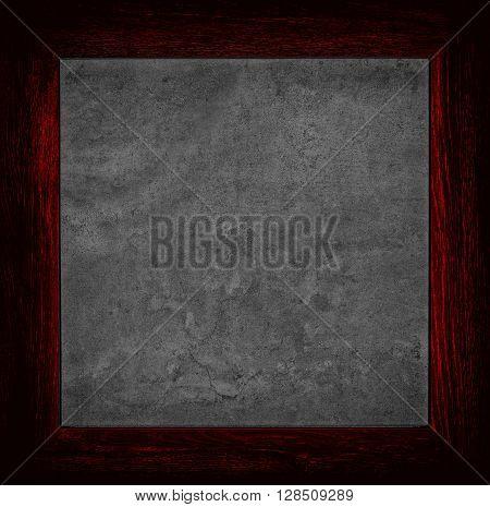 Dark Red Grunge Canvas With Wood Frame