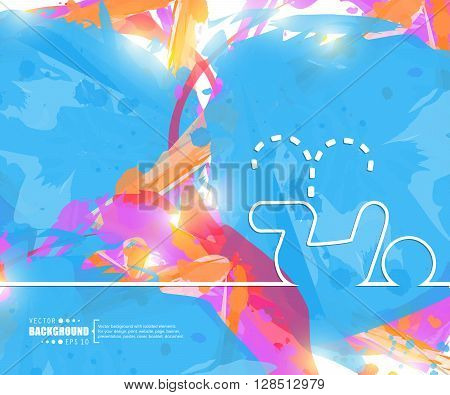 Creative vector pee. Art illustration template background. For presentation, layout, brochure, logo, page, print, banner, poster, cover, booklet, business infographic, wallpaper, sign, flyer. poster