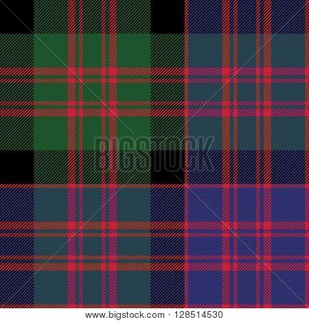 Macdonald tartan kilt fabric textile check pattern seamless.Vector illustration. EPS 10. No transparency. No gradients.