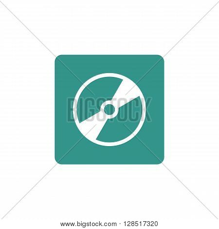 Cd Icon In Vector Format. Premium Quality Cd Symbol. Web Graphic Cd Sign On Green Background.