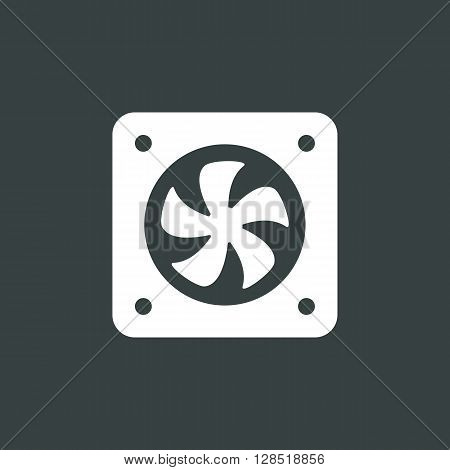 Fan Icon In Vector Format. Premium Quality Fan Symbol. Web Graphic Fan Sign On Dark Background.