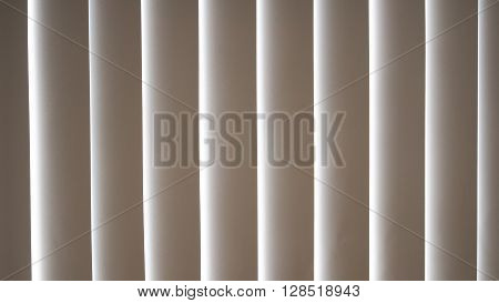 Slats of white wooden venetian blind sun-blind