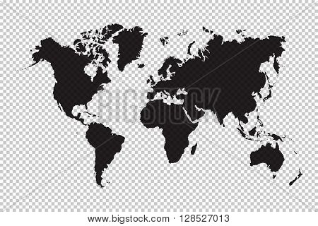 World map and grid background ( black color )