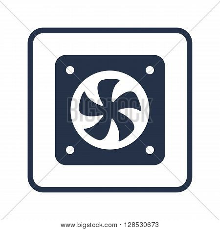 Fan Icon In Vector Format. Premium Quality Fan Symbol. Web Graphic Fan Sign On Blue Round Background