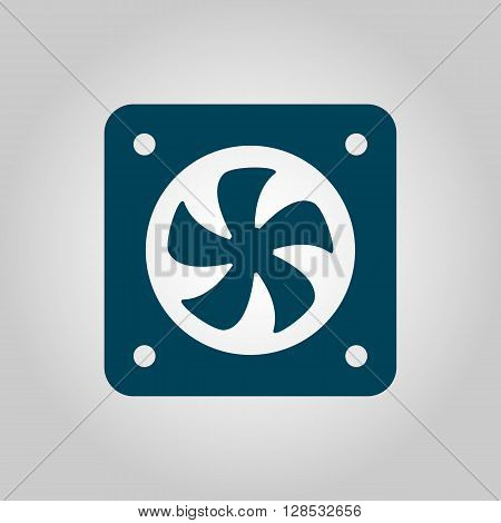 Fan Icon In Vector Format. Premium Quality Fan Symbol. Web Graphic Fan Sign On Grey Background.