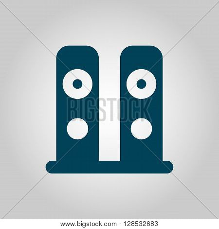 Speakers Icon In Vector Format. Premium Quality Speakers Symbol. Web Graphic Speakers Sign On Grey B
