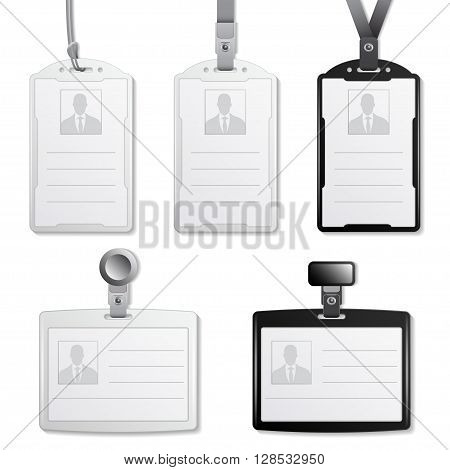 vector identification cards template isolated on a white background .