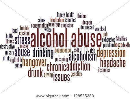 Alcohol Abuse, Word Cloud Concept 8