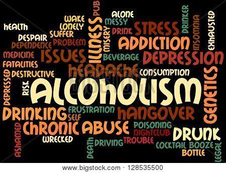 Alcoholism, Word Cloud Concept 6