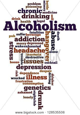 Alcoholism, Word Cloud Concept 7