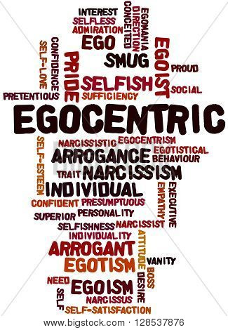 Egocentric, Word Cloud Concept 9