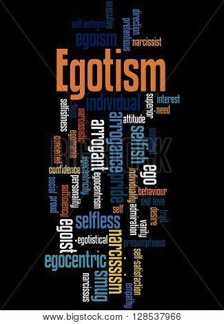 Egotism, Word Cloud Concept 5