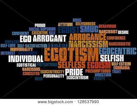 Egotism, Word Cloud Concept 7
